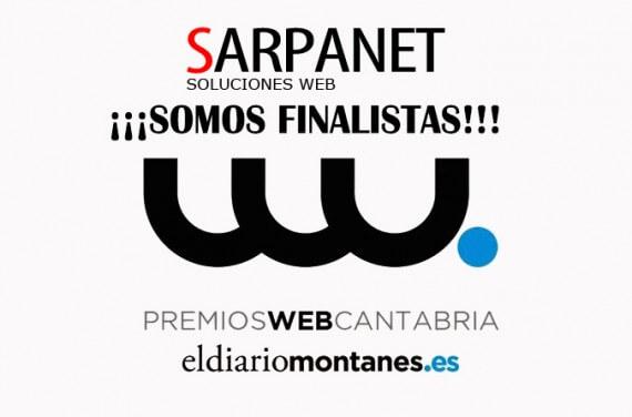 Nuestra web Sarpanet.es finalista en los Premios Web de Cantabria de El Diario Montañés