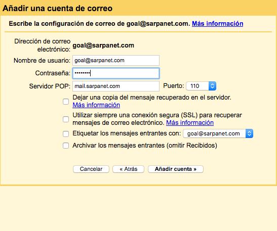 Cómo configurar una cuenta de correo en Gmail