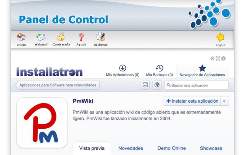¿Cómo instalar la aplicación PmWiki en mi alojamiento?