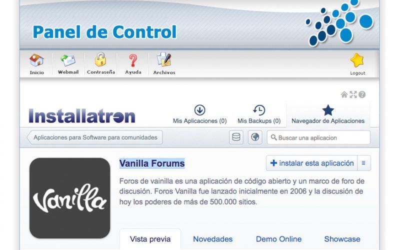 ¿Cómo instalar un foro Vanilla Forums en mi alojamiento?