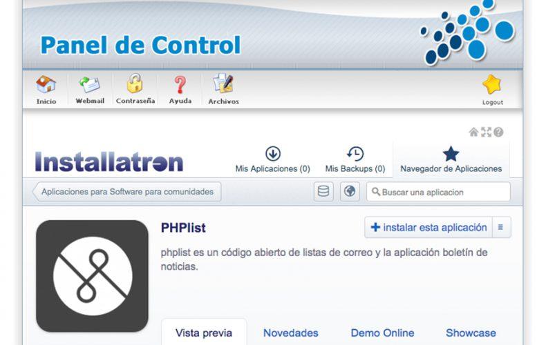¿Cómo instalar la aplicación de envíos de correo PHPlist en mi alojamiento?