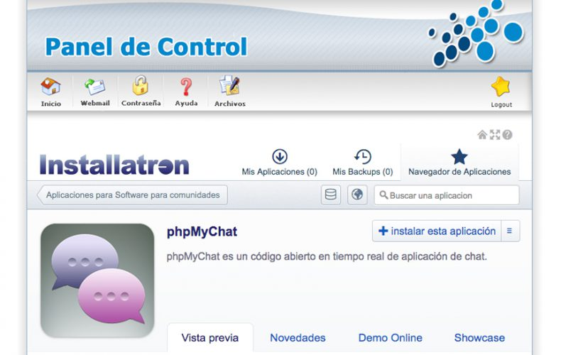 ¿Cómo instalar la aplicación de chat phpMyChat en mi alojamiento?