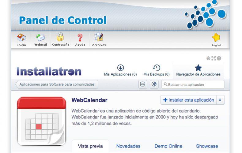 ¿Cómo instalar la aplicación WebCalendar en mi alojamiento?