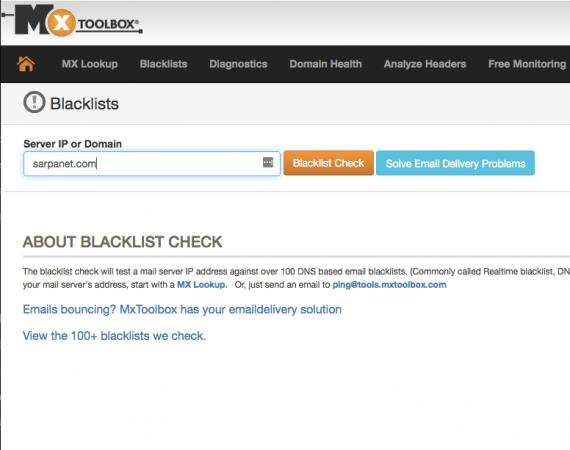 Comprobar si un dominio ha sido listado en alguna lista negra antispam
