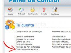 Cómo hacer una copia de seguridad de mi página web y cómo volcarla en caso de necesidad