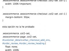 Código para mostrar el Checkout de WooCommerce  en una sola columna