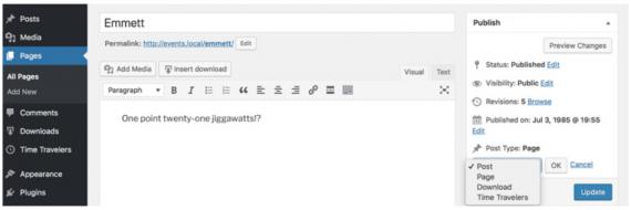Plugin de WordPress para cambiar un post de Custom Post Type