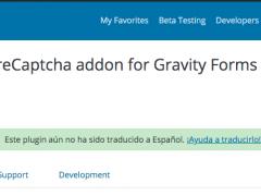 Plugin de WordPress para poner un captcha en Gravity Forms