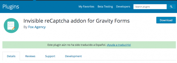 Plugin de WordPress para poner un captcha en Gravity Forms