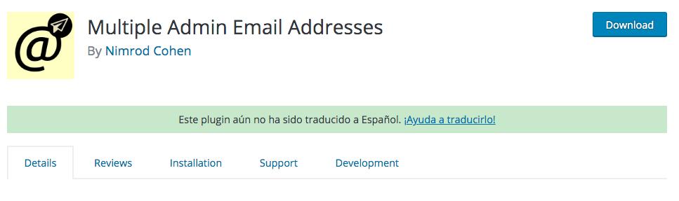 Plugin de WordPress para que las notificaciones al administrador se puedan enviar a más emails