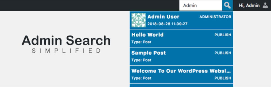 Plugin de WordPress buscador interno de la administración