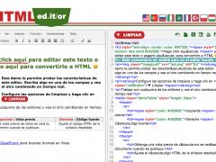 Editor HTML gratuito en línea, limpiador y convertidor