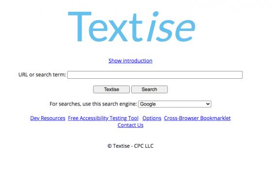 TEXTISE: Herramienta online para copiar todo el texto de una web