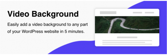 Plugin de WordPress para poner un vídeo de fondo a cualquier elemento