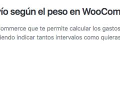 Plugin de WooCommerce para configurar los gastos de envío según en peso