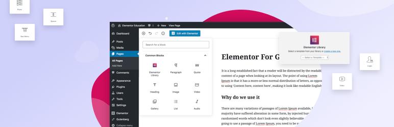 Plugin para usar elementos de Elementor como bloques en Gutenberg