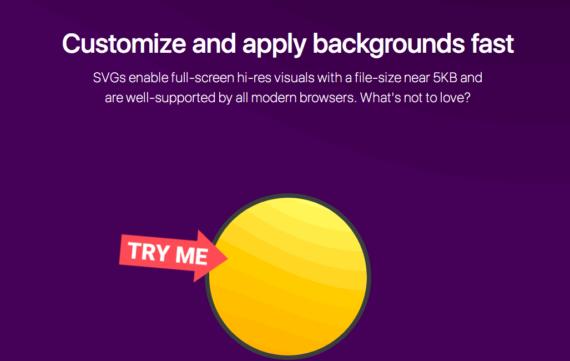 Generador de fondos web vectoriales SVG