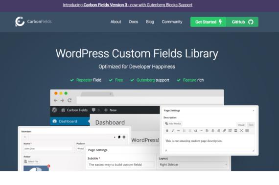 Alternativa gratuita a Advanced Custom Fields Pro de WordPress