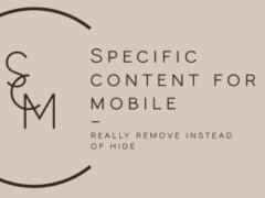 Plugin para crear páginas con un determinado contenido que se muestra exclusivamente en móviles