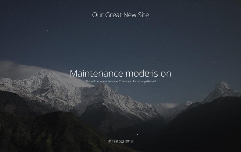 Plugin de web en construcción con acceso para que el cliente pueda verla